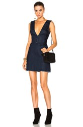 Nicholas Pinafore Buckle Dress In Blue