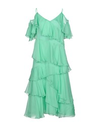 Space Style Concept Knee Length Dresses Light Green