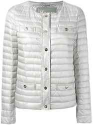 Herno Collarless Padded Jacket Nude Neutrals