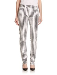 Marc By Marc Jacobs Drainpipe Striped Straight Leg Jeans Yard Strip