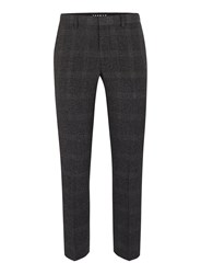 Topman Mid Grey Grey Check Ultra Skinny Fit Suit Pants