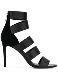 Balmain Strappy High Sandals Black