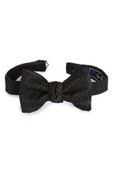 David Donahue Men's Solid Silk Bow Tie
