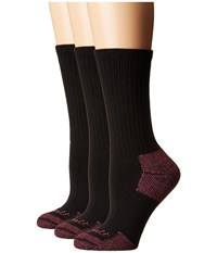 Carhartt Cotton Crew Work Socks 3 Pair Pack Black Women's Crew Cut Socks Shoes