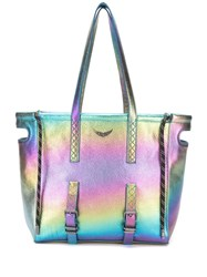 Zadig And Voltaire Bianca Rainbow Tote Blue