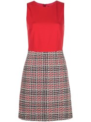 Paule Ka Check Shift Dress Red