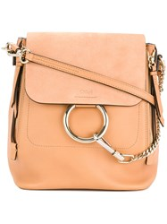 Chloe Small Faye Backpack Calf Leather Nude Neutrals
