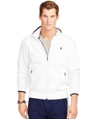 Polo Ralph Lauren Full Zip Interlock Track Jacket Pure White
