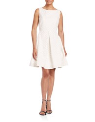Taylor Textured Fit And Flare Dress White Nude