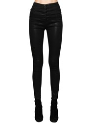 J Brand Natasha High Rise Coated Cotton Jeans Black