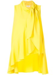 Delpozo Asymmetric Vest Top Yellow