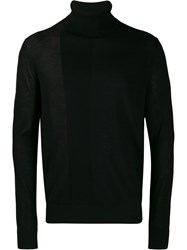 Emporio Armani Roll Neck Ribbed Panel Sweater 60