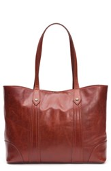 Frye Melissa Leather Shopper Red Red Clay