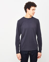 The Idle Man Perfect Long Sleeve T Shirt Navy