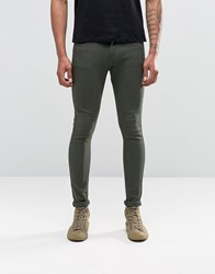 Liquor And Poker Super Skinny Jeans Khaki 27 Khaki Green