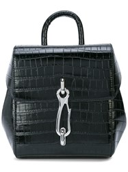 Alexander Wang Hook Embossed Backpack Black