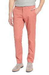 Bonobos Big And Tall Tailored Fit Washed Stretch Cotton Chinos Rich Coral