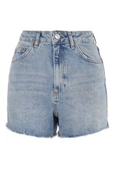 Topshop Tall Longline Mom Shorts Mid Stone
