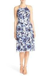 Women's Eci Floral Stretch Cotton Halter Dress