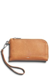 Shinola Latigo Leather Wristlet Beige Camel