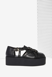Nasty Gal Unif Bound Vegan Leather Creeper