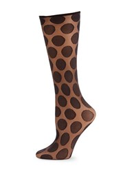 Hue Simply Skinny Polka Dot Socks Black
