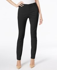 Alfani Seamed Skinny Pants Only At Macy's Deep Black