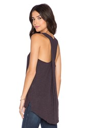 Lanston Twist Back Tunic Tank Purple