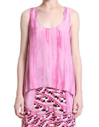 Plenty By Tracy Reese Overlap Tank Orchid