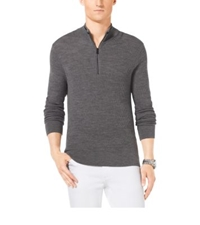 Michael Kors Merino Wool Thermal Zip Up Ash