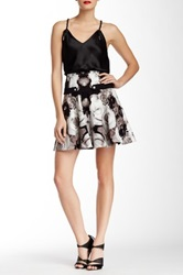 L.A.M.B. Photographic Rose Print Skirt Multi