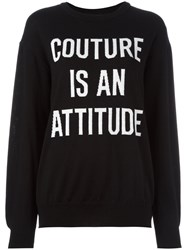 Moschino Loose Fit Jumper Black