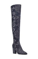 Nine West Women's Siventa Over The Knee Boot Black Fabric