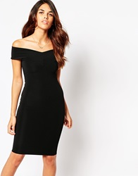 Lipstick Boutique Ava Off Shoulder Dress Blackrib
