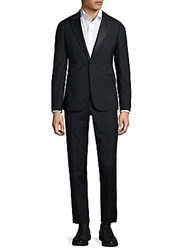 Armani Collezioni Modern Fit Peak Lapel Wool Tuxedo Sea Blue