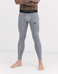 Nike Pro Training Tights In Grey