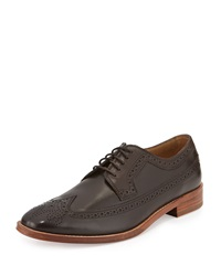 Cole Haan Lionel Leather Long Wing Tip Tan
