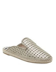 Dolce Vita Baz Leather Espadrille Smoking Slippers Silver