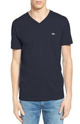 Lacoste Men's Pima T Shirt Navy Blue