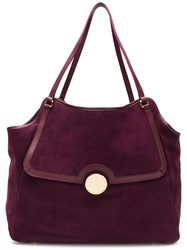L'autre Chose Foldover Top Tote Bag Pink And Purple