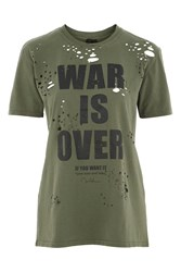 And Finally War Is Over Nibbled T Shirt By Khaki