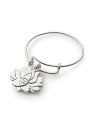Alex And Ani Lotus Peace Petals Expandable Wire Ring Silver
