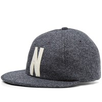 Norse Projects Wool 6 Panel Flat Cap Grey
