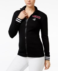 Almost Famous Juniors' Patch Track Jacket Black