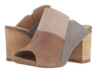 Hush Puppies Sayer Malia Taupe Multi Suede Women's Wedge Shoes Brown