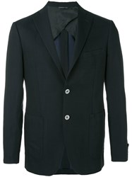 Tonello Contrast Pocket Blazer Men Linen Flax Cupro Virgin Wool 50 Blue