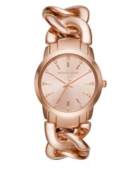 Michael Kors Elena Stainless Steel Chain Link Bracelet Watch Rose Gold
