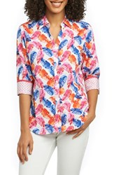 Foxcroft Mary Layered Palms Wrinkle Free Shirt Multi