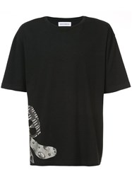 Rochambeau Side Graphic Print T Shirt Black