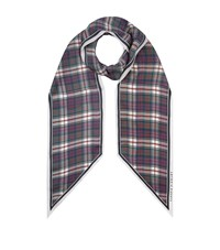 Claudie Pierlot Silk Tartan Scarf Red
